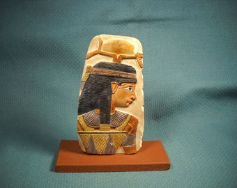 EGYPTIAN REPRODUCTION, Statue of Isis and Hathor, Image of Isis and Hathor, Antique Reproductin of Egyptian Artifact