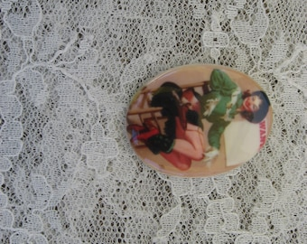 Cowgirl Pin up Cabochon Cutie Pin Up Girl Cabochon Pinup Cabochon Calender Girl Cabochon Pin up Model Cabochon 40x30mm Unset