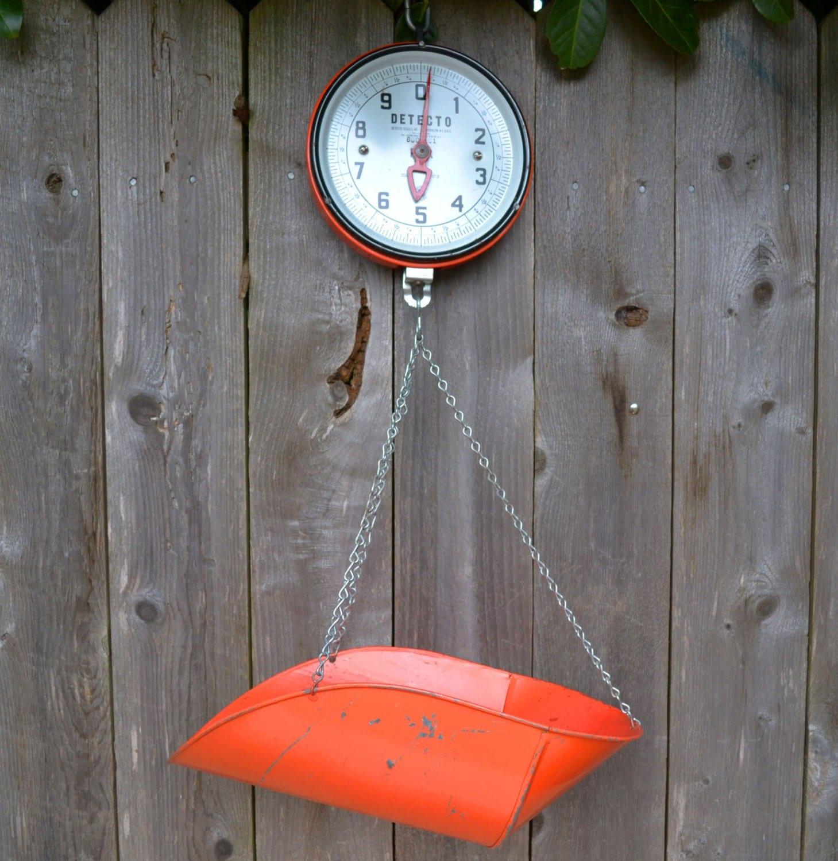 Vintage 1950s Orange Detecto Hanging Scale