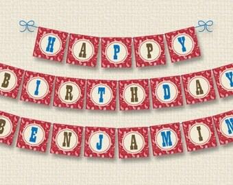 Personalized Cowboy Birthday Party Banner - DIY Printable (Digital File)