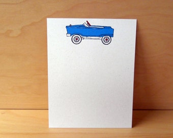 Toy Car Noteflats - recycled stationery, set of 12