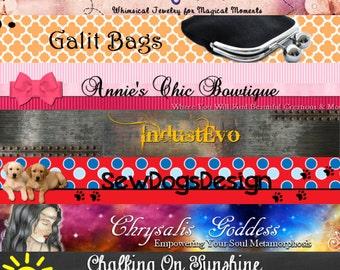 Etsy Banner and Avatar Set, Professional Etsy Banner Design, Custom Digital Art, Make your shop POP
