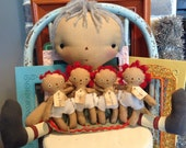 Mother's Day gift Grandma with four grand babies Raggedy Annie doll set