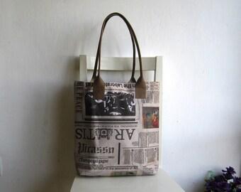 Art Newspaper Tote Shoulder Bag