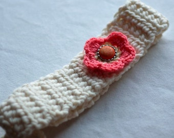 Crochet Headband Pattern with flower, Instant Download, PDF download, DIY