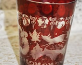 Ruby Red Bohemian Glass