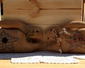 Primitive Grubby Rabbits Grungy Bunny Shelf Sitters