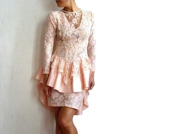 UZANEL French Vintage Lace Part Dress / Wedding Dress