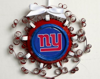 New York Giants Recycled Aluminum Can Ornament