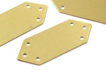 Arrow Bracelet Blank, 6 Raw Brass Stamping Bracelet Blanks with 6 Holes (15x40mm)  Brass 033 A0071
