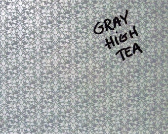 Gray Brocade/Gray Frame ..Magnet Dry Erase Memo Board / Housewarming Gift / Office Decor / Organization / Desk / Message Board / Wall Decor