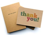 Set Of 12 Colourful Thank You Note Cards - Postcards in a Box