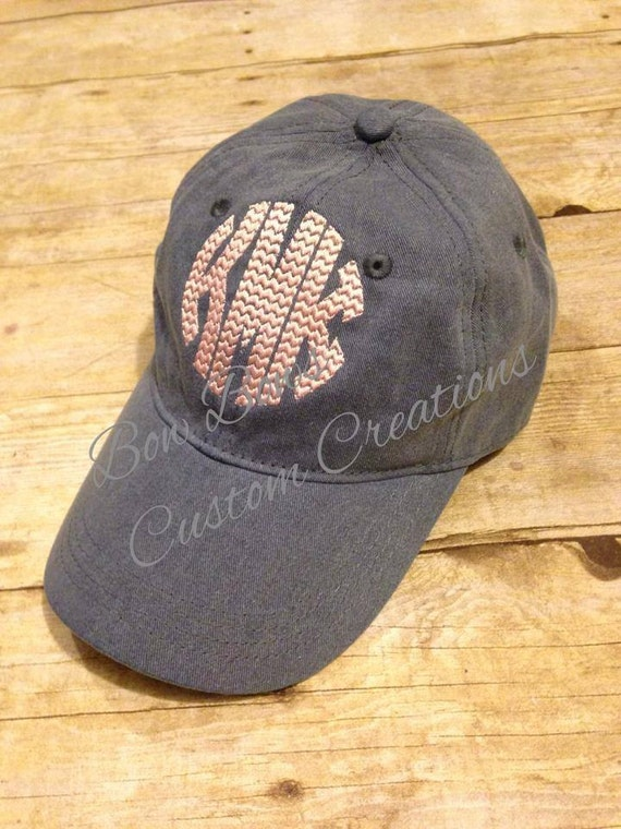 preppy monogram baseball hat pigment dyed cap by