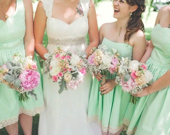 Mismatched Cotton Bridesmaid Dresses for Your Wedding / Mix and Match / Custom / Handmade in USA / Summer Dress