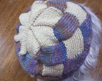Pattern for Stocking Cap version of the Entrelac Tam