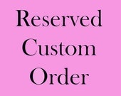 RESERVED Listing for beejal