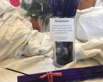 Meditation Life Affirming Hand Dipped 11 inch Incense