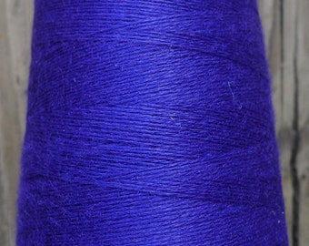 cashmere wool blend yarn, lace weight, blue violet,   5 oz.