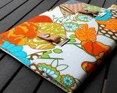 iPad Mini 3 Case / iPad Mini Retina Cover / Padded iPad Mini 4 Case / iPad Mini Sleeve / Galaxy Note 3 Case - Summer Sketch Neon