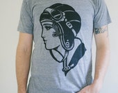 men's aviator triblend t-shirt sizes s, m, l, xl, 2xl