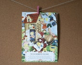Mother Goose Full Color Vintage Flashcards - Size 2 7/8x4 - Set of 10