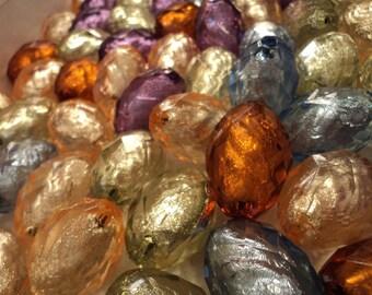 Large Foil Egg - Acrylic Bead Mix - Set of 5 - #SH157