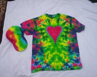 Happy Heart / Hat Tie Dye Combo Choose Size