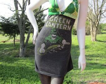 Green Lantern T shirt bikini dress with hemp stitching