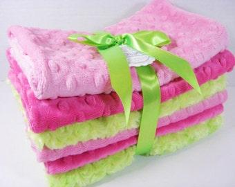 Minky Burp Cloth Set, Choose Your Colors