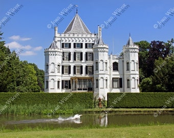 Sandenburg Castle & Swan Langbroek Utrect Netherlands Dutch Countryside Fine Art Photography Photo Print