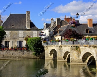 Beautiful Town of Azay-le-Rideau Loire Valley France Fine Art Photography Photo Print