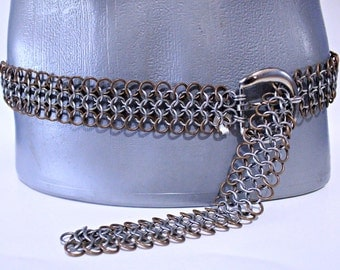 Buckle Belt Stainless Steel Bronze chainmail chainmaille Cosplay LARP SCA