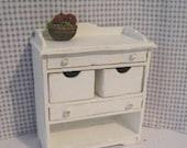 Dollhouse Veggie bin, Fruit bin, kitchen unit ,  utility unit,   twelfth scale,  dollshouse furniture