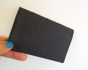 Wallet Credit Card holder, business card case,men slim wallet,card case wallet,card case holder-Black Gray suiting fabric
