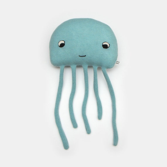 Squishy Jellyfish Toys : Harold the Jellyfish Lambswool Plush Toy Made to order