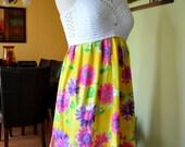 My new design crochet white top dress