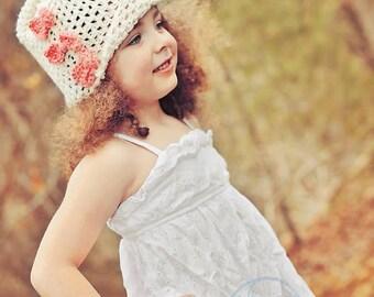 Crochet Hat/Crochet Cloche Hat/Crochet Adult Hat /Crochet Baby Hat/Crochet Toddler Hat/Vintage Style Cloche Hat (Ready to Ship)
