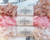 Seam Binding,Scrunched, Shabby Crinkled Ribbon, Pink, Cream, Rayon Ribbon, Doll Making, French Vintage, Scrapbooking, Australia, La Provence