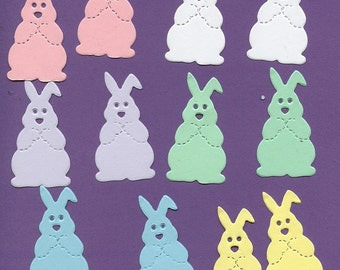 Lot of 12 Sizzix Easter Bunny Die Cuts