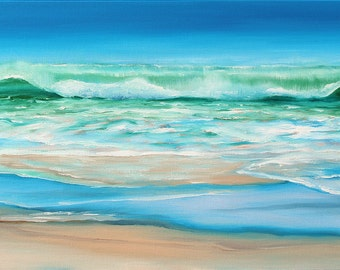 5x7 Greeting Card by Daina Scarola, Item #GC5X7-56 (surf art, wave, ocean, beach)