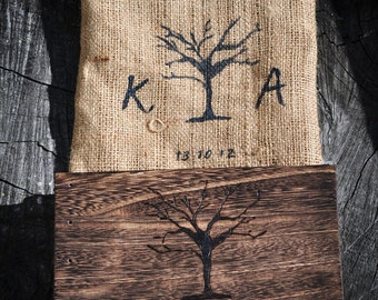 Personalized Rustic Wooden Wedding Guestbook