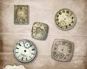 Clock Works Vol 1 -  Vintage Watch Faces - Commercial Use -  INSTANT DOWNLOAD -