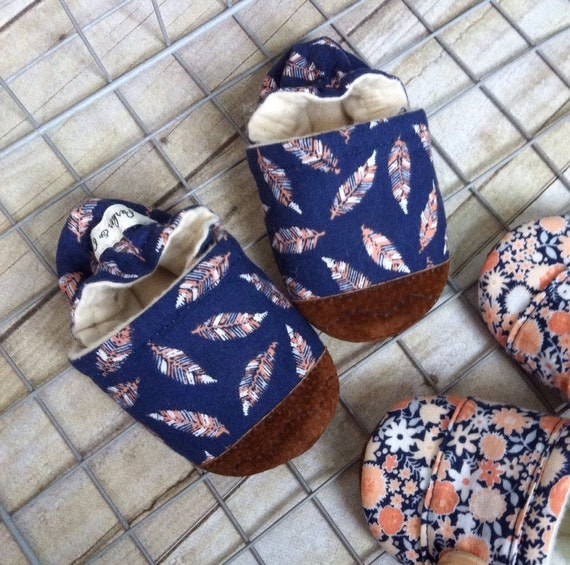 Soft Soled Baby Shoes - Feathers