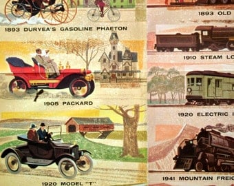 1959 Vintage /Wall Size Poster on Transportation since 1775