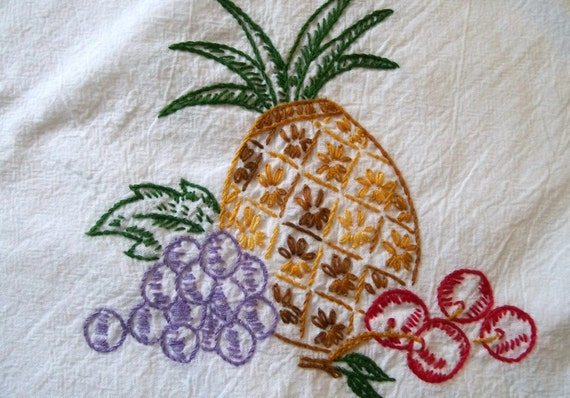 Embroidery Dish Towel Flour Sack Towel Cotton by
