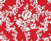 COUPON Code Sale - Riley Blake, Lost and Found 2, Damask, Red, My Minds Eye, 100% Cotton Quilt Fabric, Red, Quilting Fabric, SELECT a SIZE