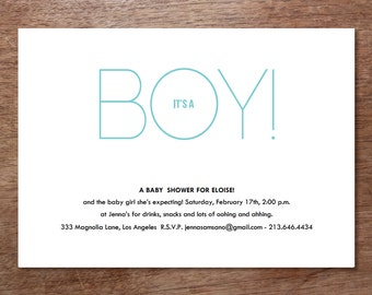 Baby Shower Invitation Download - It's A Girl! - It's a Boy! - Printable Baby Shower Invite - Blue Baby Shower - Pink Baby Shower - PDF Card