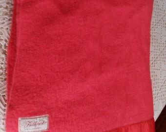 Wool Fieldcrest Coral blanket