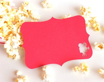 Movie Camera Note cards Set of 8, letter, snail mail note card, notecard, movie invite