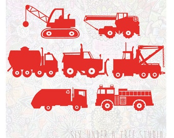 Construction Trucks Vol 2 Wall Vinyl Decals Art Graphics Stickers